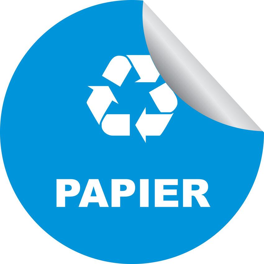 Zestaw 6 okrągłych naklejek na pojemniki do segregacji śmieci